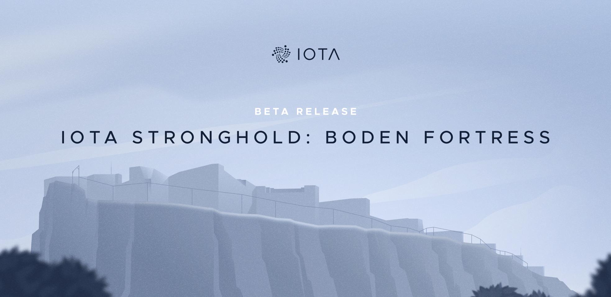 IOTA Stronghold: Beta Release