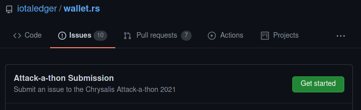 Attack-a-thon Issue template