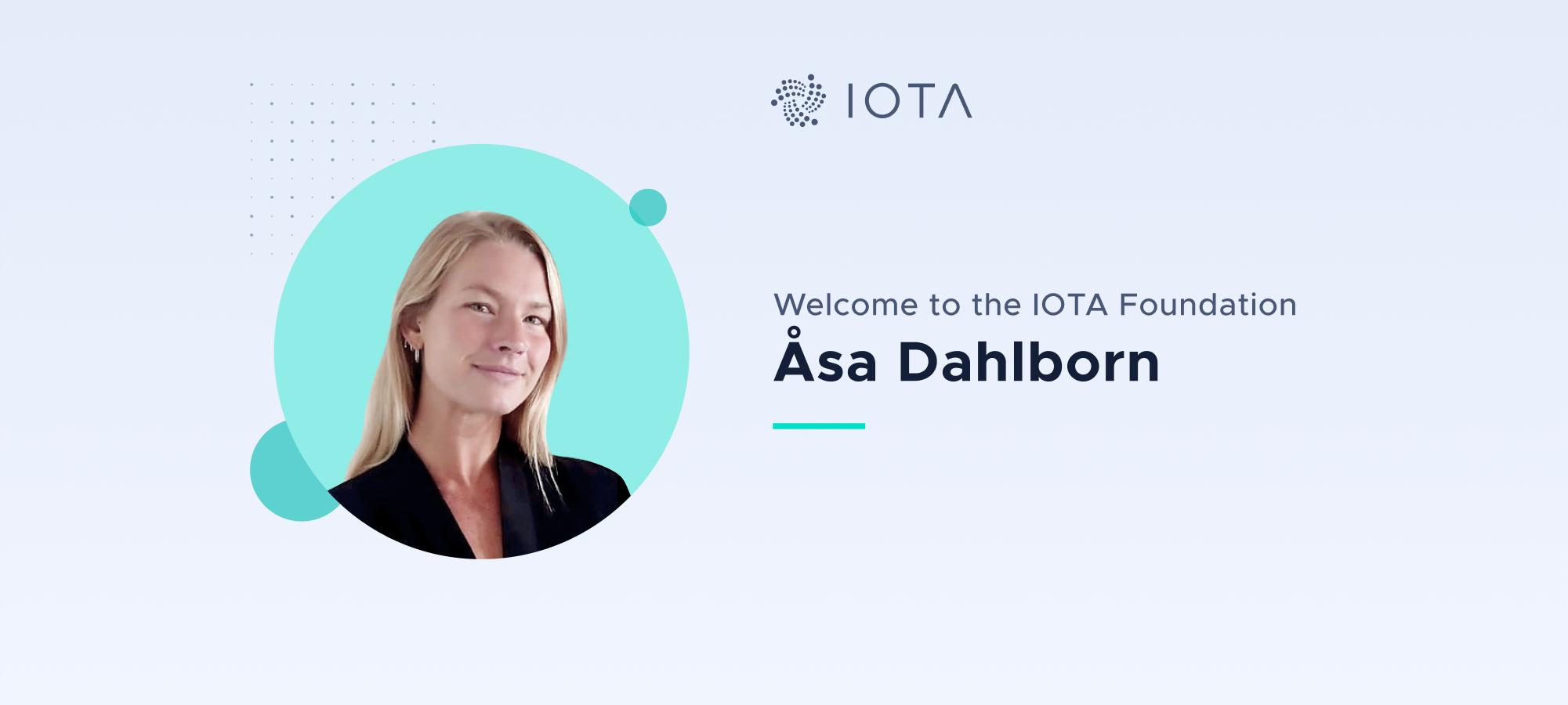 Welcome Åsa Dahlborn to the IOTA Foundation
