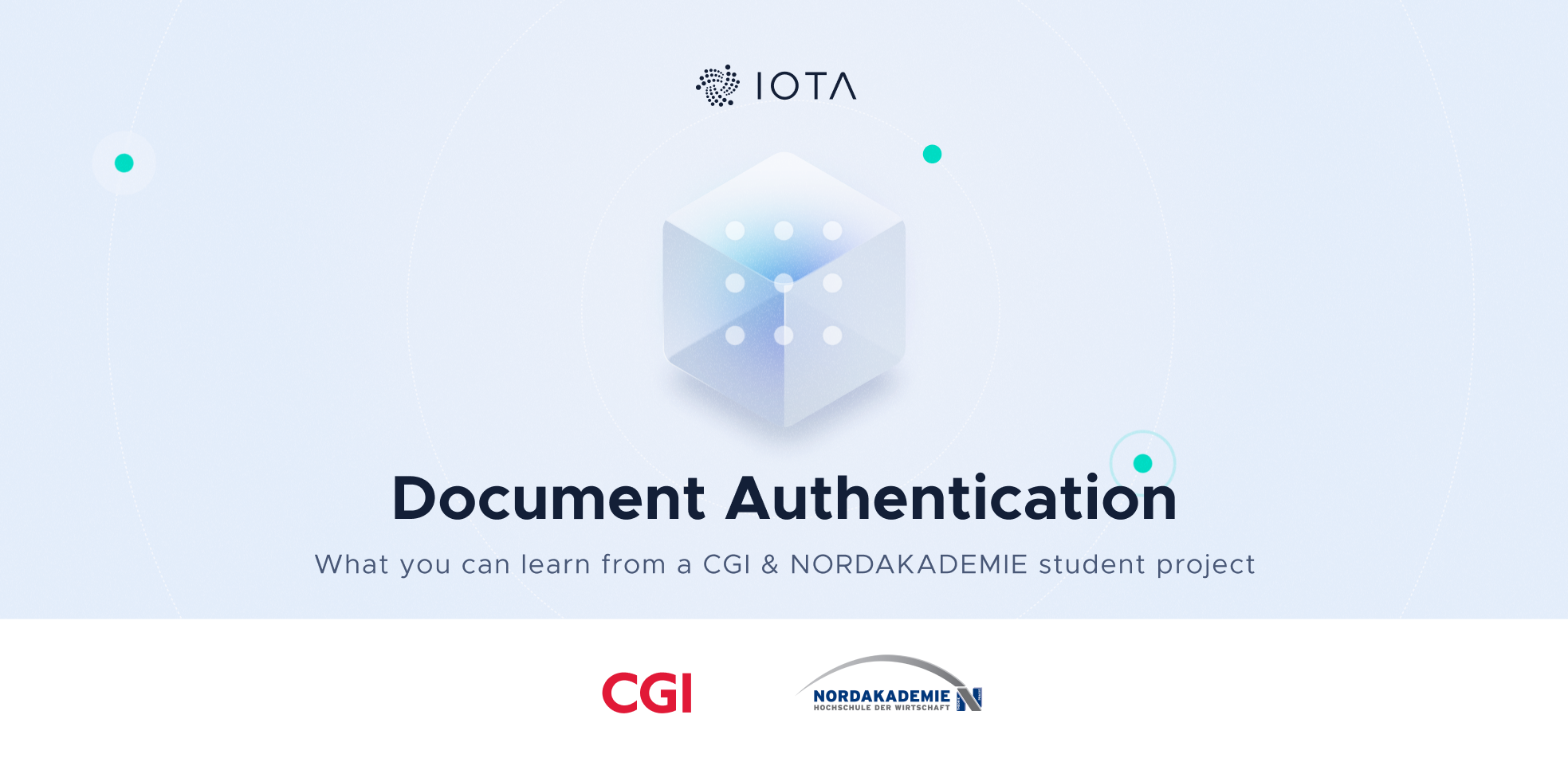Enabling document authenticity through DLT - a project by CGI and NORDAKADEMIE