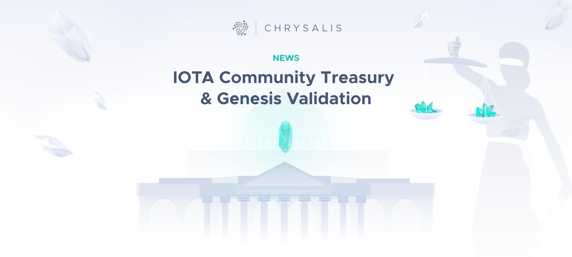 IOTA Community Treasury and Genesis Validation