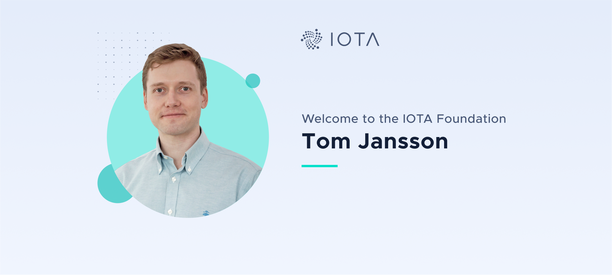 Welcome Tom Jansson to the IOTA Foundation