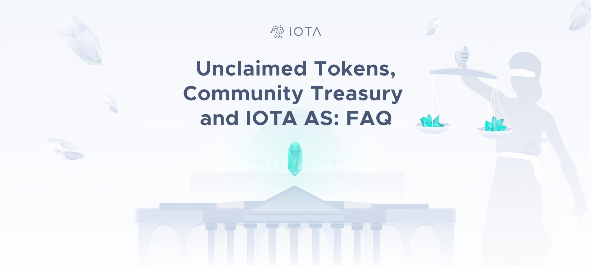 Unclaimed Tokens, Community Treasury and IOTA AS: FAQ