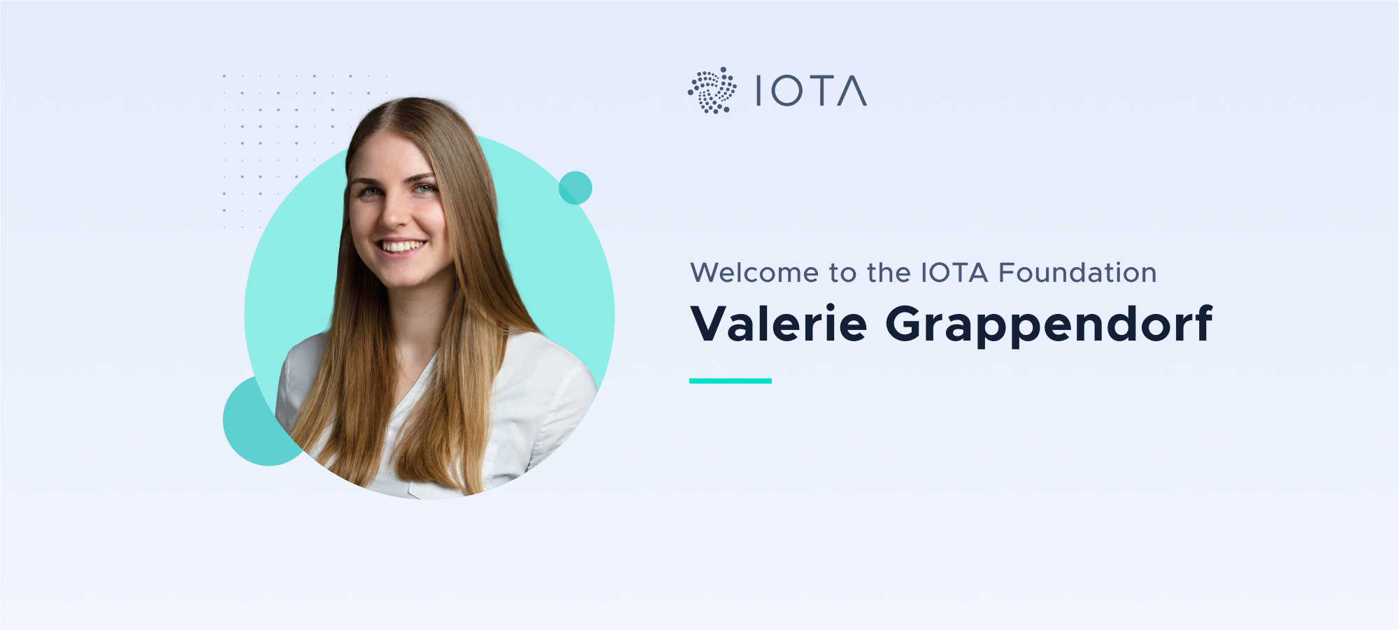 Welcome Valerie Grappendorf to the IOTA Foundation