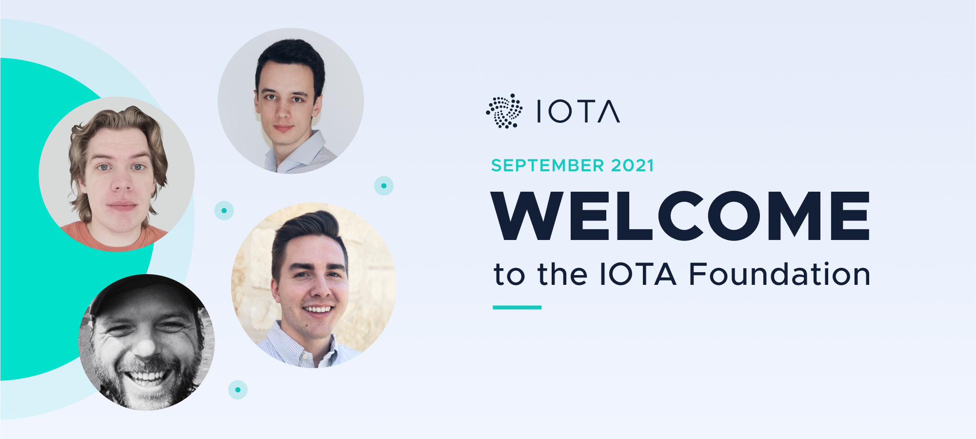 Welcome Aleksei Korolev, Holger (Phylo), Matthew Maxwell, and Philipp Gackstatter to the IOTA Foundation