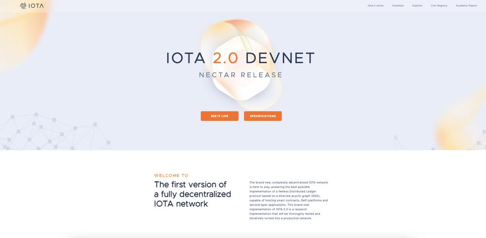Neue Website für das Devnet